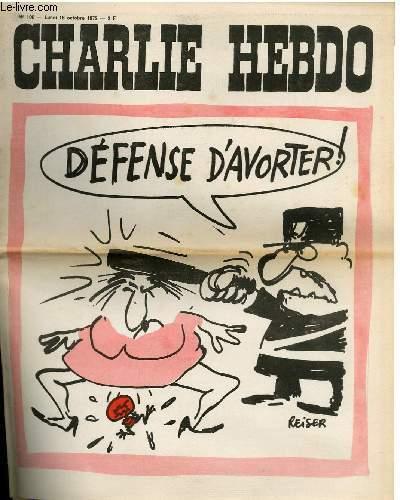 CHARLIE HEBDO N°100 - DEFENSE D'AVORTER