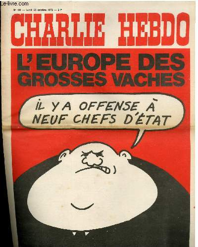 CHARLIE HEBDO N°101 - L'EUROPE DES GROSSE VACHES