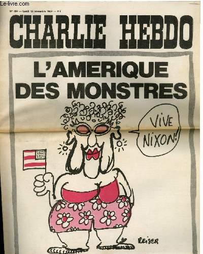 CHARLIE HEBDO N°104 - L'AMERIQUE DES MONSTRES