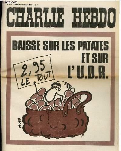 CHARLIE HEBDO N°108 - BAISSE SUR LES PATATES ET L'UDR