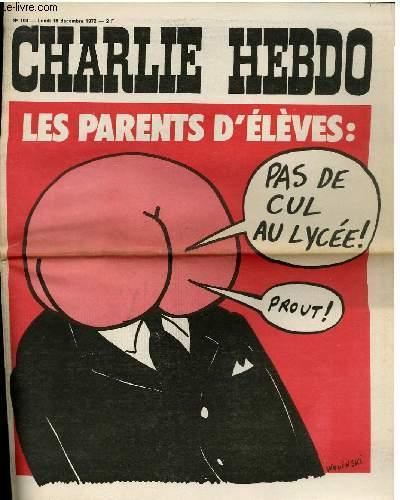 CHARLIE HEBDO N°109 - LES PARENTS D'ELEVES