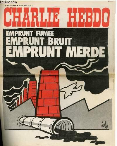 CHARLIE HEBDO N°112 - EMPRUNT FUMEE EMPRUNT BRUT EMPRUNT MERDE