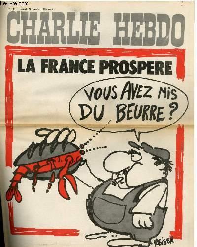 CHARLIE HEBDO N°114 - LA FRANCE PROSPERE