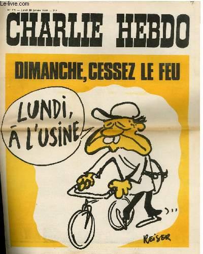 CHARLIE HEBDO N°115 - DIMANCHE CESSEZ LE FEU !