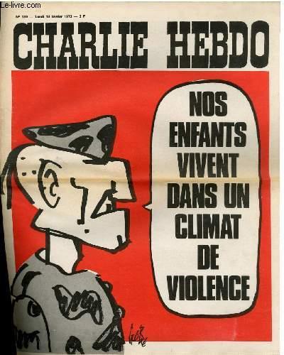 CHARLIE HEBDO N°119 - NOS ENFANTS VIVENT DANS UN CLIMAT DE VIOLENCE