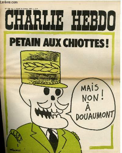 CHARLIE HEBDO N°119 BIS - PETAIN AU CHIOTTES