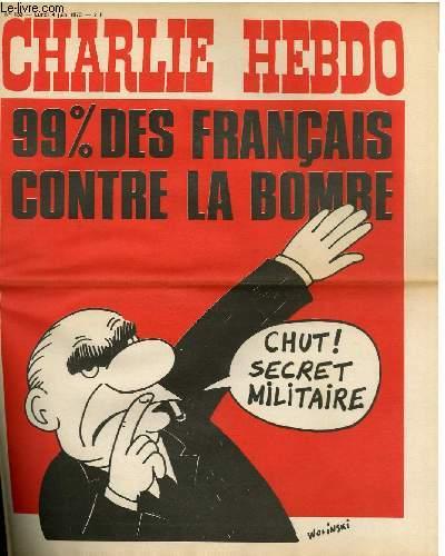 CHARLIE HEBDO N°133 - 99% DES FRANCAIS CONTRE LA BOMBE