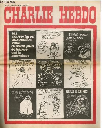CHARLIE HEBDO N°153 - LES COUVERTURES AUXQUELLES VOUS N'AVEZ PAS ECHAPPE CETTE SEMAINE