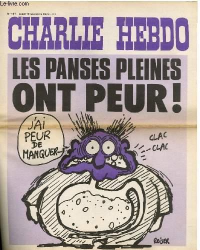 CHARLIE HEBDO N°157 - LES PANSES PLEINES ONT PEUR !