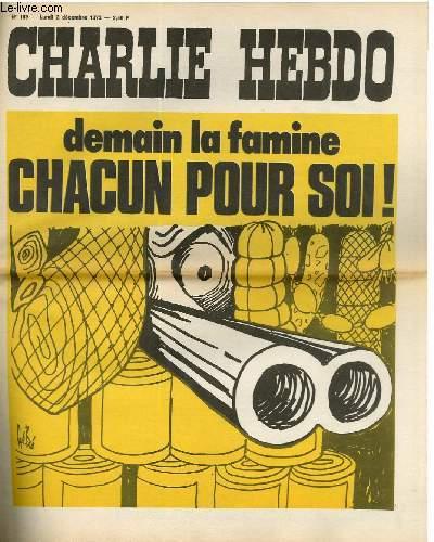 CHARLIE HEBDO N°159 - DEMAIN LA FAMINE - CHACUN POUR SOI