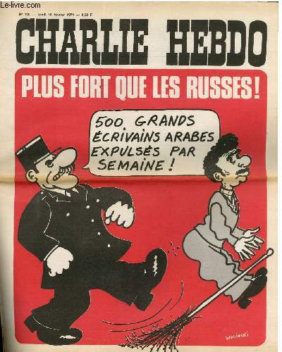 CHARLIE HEBDO N°170 - PLUS FORT QUE LES RUSSES