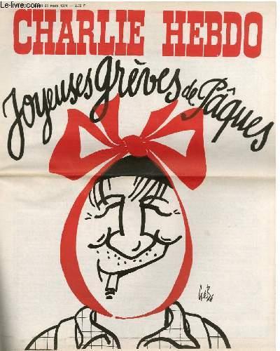 CHARLIE HEBDO N°175 - JOYEUSES GREVES DE PÂQUES