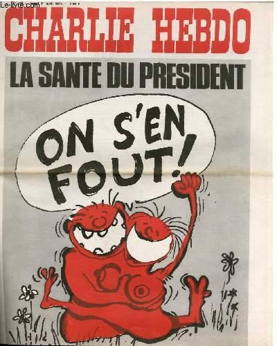 CHARLIE HEBDO N°176 - LA SANTE DU PRESIDENT