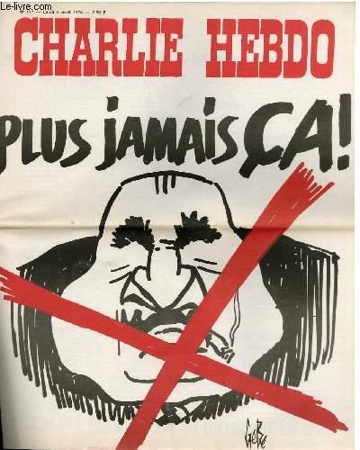 CHARLIE HEBDO N°177 - PLUS JAMAIS CA
