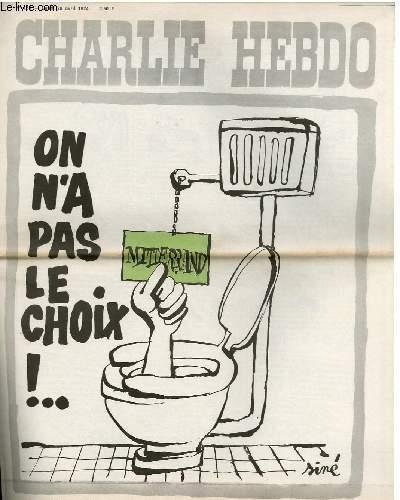 CHARLIE HEBDO N°180 - ON N'A PAS LE CHOIX !