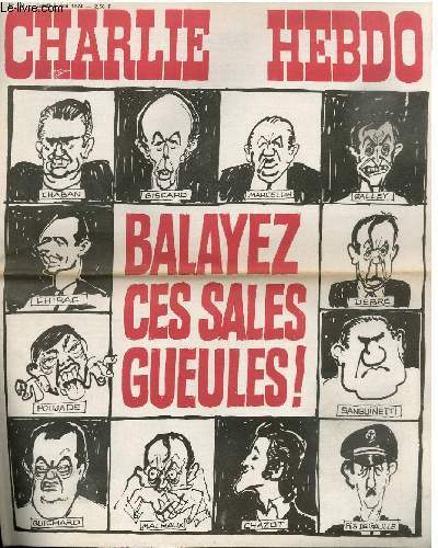 CHARLIE HEBDO N°181 - BALAYEZ CES SALES GUEULES !