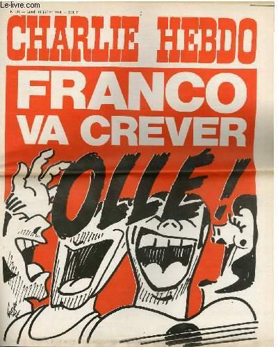 CHARLIE HEBDO N°191 - FRANCO VA CREVER