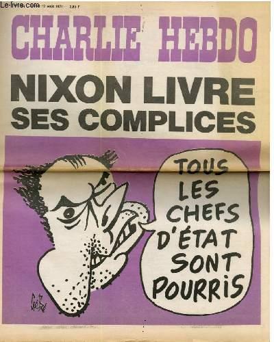 CHARLIE HEBDO N°195 - NIXON LIVRE SES COMPLICES