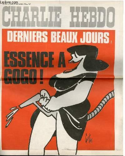 CHARLIE HEBDO N°201 - DERNIERS BEAUX JOURS - ESSENCE A GOGO