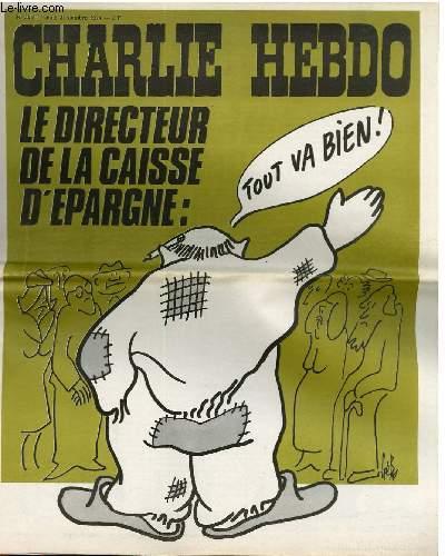 CHARLIE HEBDO N°205 - LE DIRECTEUR DE LA CAISSE D'EPARGNE : TOUT VA BIEN