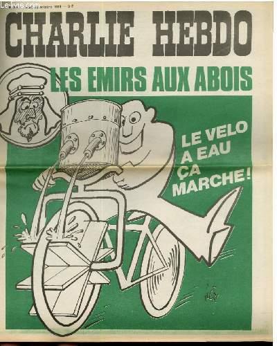 CHARLIE HEBDO N°206 - LES EMIRS AUX ABOIS - LE VELO A EAU CA MARCHE