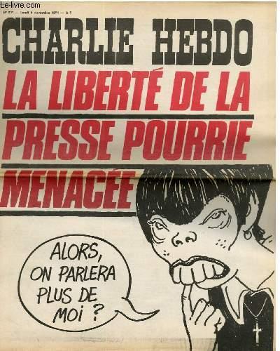 CHARLIE HEBDO N°207 - LA LIBERTE DE LA PRESSE POURRIE MENACEE