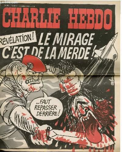 CHARLIE HEBDO N°208 - REVELATION : LE MIRAGE C'EST DE LA MERDE