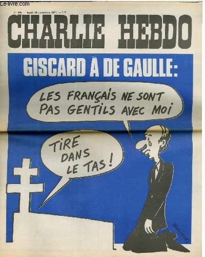 CHARLIE HEBDO N°209 - GISCARD A DE GAULLE