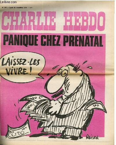 CHARLIE HEBDO N°210 - PANIQUE CHEZ PRENATAL