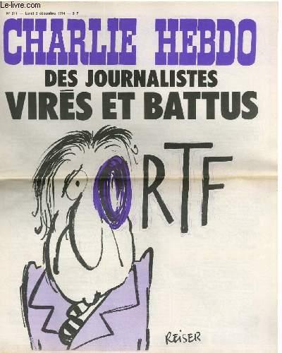 CHARLIE HEBDO N°211 - DES JOURNALISTES VIRES ET BATTUS