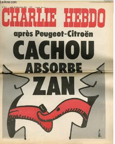 CHARLIE HEBDO N°213 - APRES PEUGEOT-CITROËN, CACHOU ABSORBE ZAN