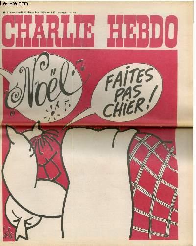 CHARLIE HEBDO N°214 - NOËL, FAITES PAS CHIER