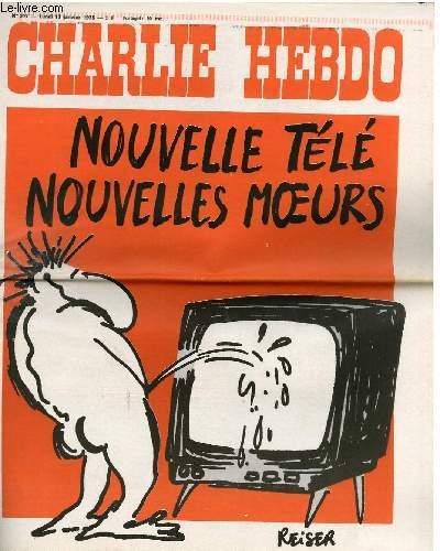 CHARLIE HEBDO N°217 - NOUVELLE TELE, NOUVELLE MOEURS