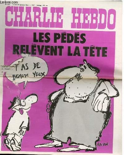 CHARLIE HEBDO N°219 -  LES PEDES RELEVENT LA TÊTES