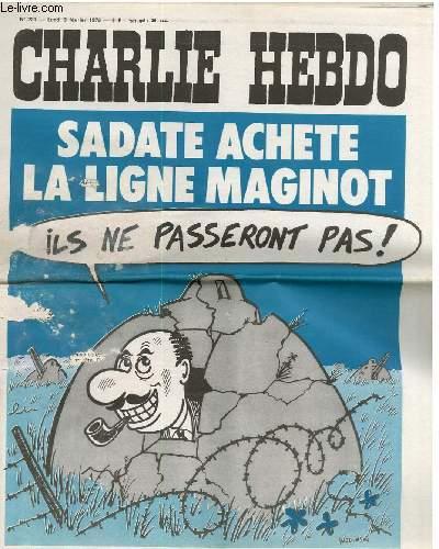 CHARLIE HEBDO N°220 -  SADATE ACHETE LA LIGNE MAGINOT