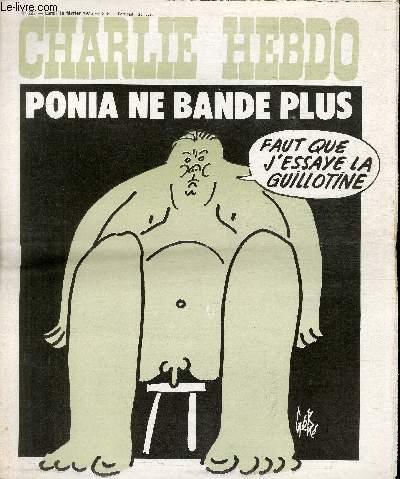 CHARLIE HEBDO N°221 - PONIA NE BANDE PLUS