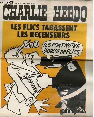 CHARLIE HEBDO N°224 - LES FLICS TABASSENT LES RECENSEURS