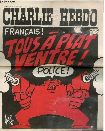CHARLIE HEBDO N°225 - FRANCAIS TOUS A PLAT VENTRE