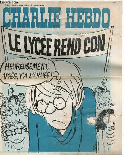 CHARLIE HEBDO N°226 - LE LYCEE REND CON
