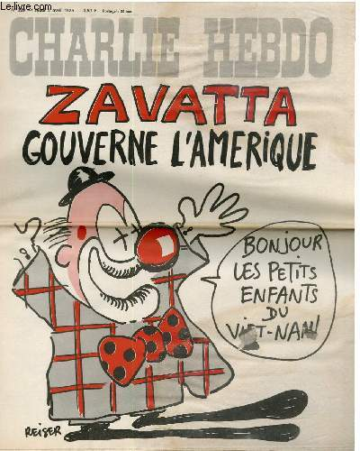 CHARLIE HEBDO N°229 - ZAVATTA GOUVERNE L'AMERIQUE