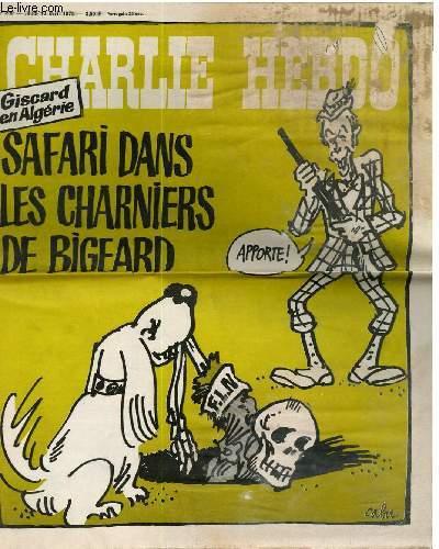 CHARLIE HEBDO N�230 - GISCARD EN ALEGERIE, SAFARI DANS LES CHARNIERES DE BIGEARD