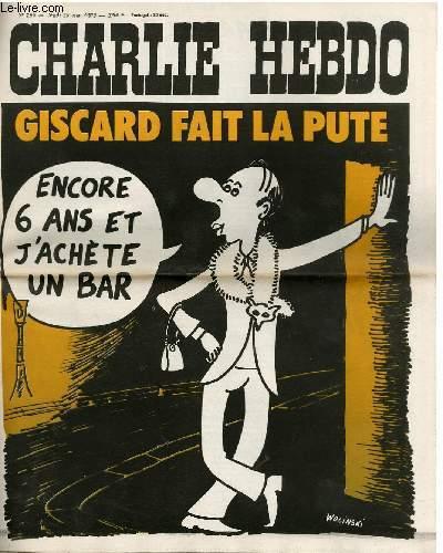 CHARLIE HEBDO N°236 - GISCARD FAIT LA PUTE