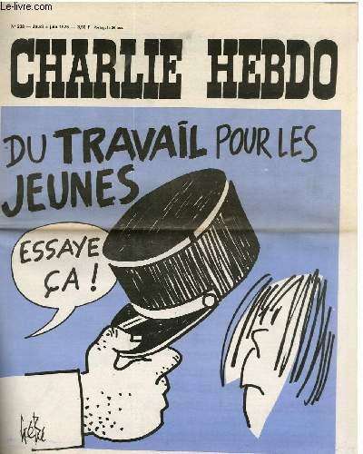 CHARLIE HEBDO N°238 - DU TRAVAIL POUR LES JAUNES