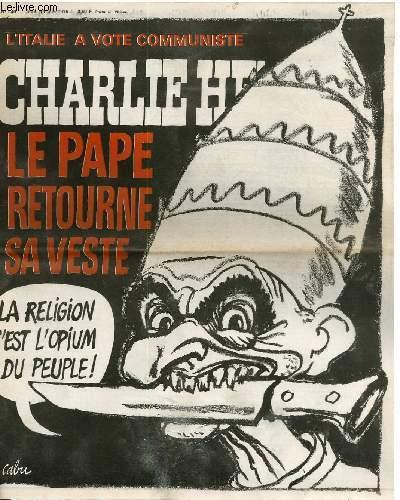 CHARLIE HEBDO N°240 - L'ITALIE A VOTE COMMUNISTE, LE PAPE RETOURNE SA VESTE