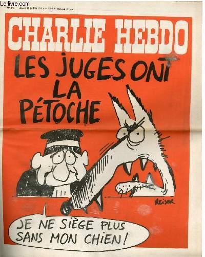 CHARLIE HEBDO N°243 - LES JUGES ONT LA PETOCHE