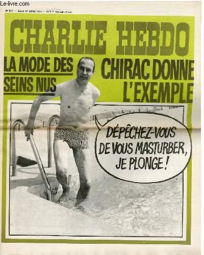 CHARLIE HEBDO N°244 - LA MODE DES SEINS NUS - CHIRAC DONNE L'EXEMPLE