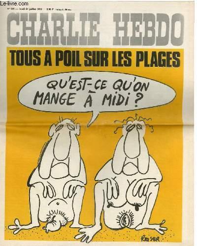 CHARLIE HEBDO N�245 - TOUS A POIL SUR LES PLACES