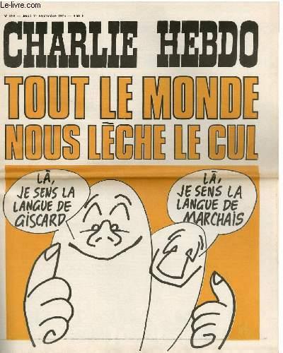 CHARLIE HEBDO N°252 - TOUT LE MONDE NOUS LECHE LE CUL