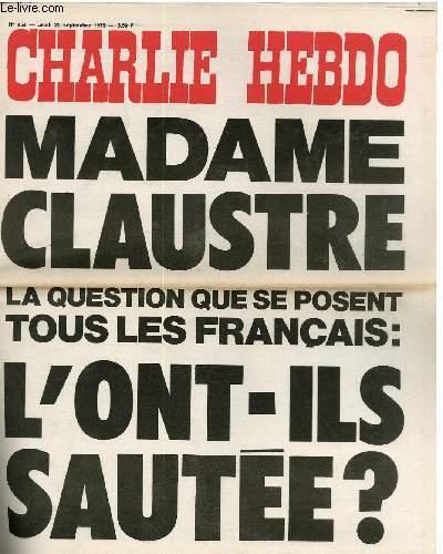 CHARLIE HEBDO N°254 - MADAME CLAUSTRE, LA QUESTION QUE TOUS LES FRANCAIS SE POSENT : L'ONT-ILS SAUTEE ?
