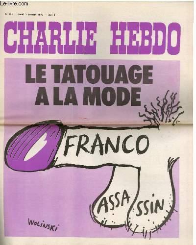 CHARLIE HEBDO N°255 - LE TATOUAGE A LA MODE